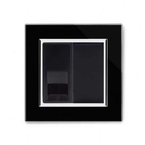 RetroTouch Single BT Master Socket Black Glass CT 04083
